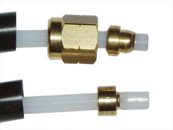 Teflonschlauch Schnelldampf 2x4 kplt. l=330mm